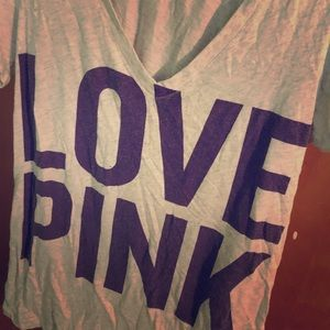 VS pink graphic tee